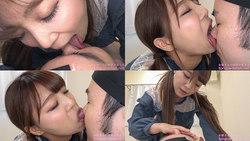 【舌フェチ唾フェチ】高美はるかのエロ長い舌でリクエスト顔舐め