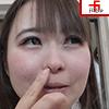 Dog sniffing girl 11 ③ Nose picking