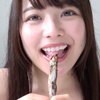 [Tongue tongue & chew & huge woman] Transcendent cute Chiharu Miyazawa chan's licking & chewing video!