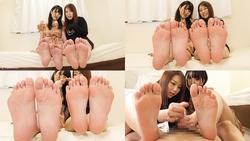 Tsubasa Hachino and Shiori Kuraki blame the perverted M man and ejaculate! [Foot blame documentary]