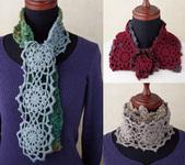 ふわモコモチーフマフラー 編み図