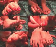 Video] Foot sole treasure museum ★ Pink nail drop ☆ Seika