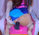 Swimsuit Big Dick Man's Daughter's Huge Dildo Anal Expansion Squirting Masturbation [Crossdresser/D.Va/Swimsuit/Overwatch]